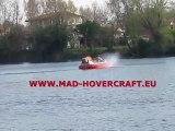 Amphibian airboat watercraft MAD81 hovercraft