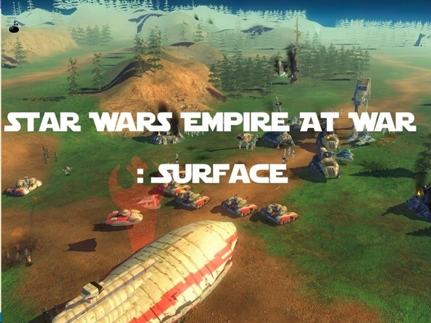 ☢☣↭Test Star Wars Empire At War : Surface HD↭☣☢