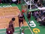 LeBron James Block the Ray Allen layup during the third quar