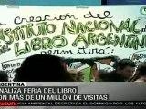 Cifra récord de visitantes en Feria del Libro de Buenos Air