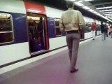station RER chatelet- les halles Paris 8 mai 2010