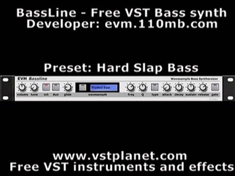 BassLine - Free VST bass synth - vstplanet com