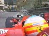 Monaco 2010 FP3 Alonso crash Onboard