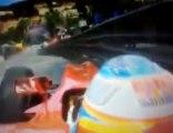 Alonso crash Monaco 2010 - Accidente Alonso Mónaco (FP3)