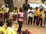 Parrainage Enfants Haïti : La cours de récréation de l'école