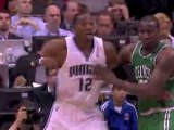 Jameer Nelson throws the alley-oop to Dwight Howard for the