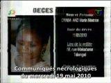 Communiqués nécrologiques du 19-05-10