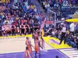 Lamar Odom throws a nice pass to Pau Gasol, who finishes wit