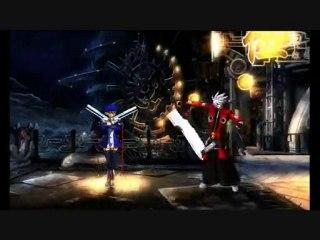 1e partie Noel Vermillion vs Ragna Blazblue Test gameplay