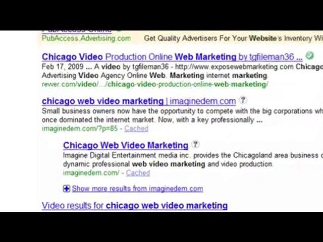 web video marketing, internet marketing, chicago web video