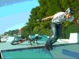 Mikael Skull en BMX au skate park de Monaco