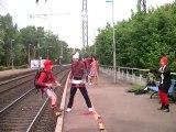 Festival Excentique - Lacher de Clowns - gare de Montlouis