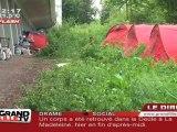 Les buldozers rasent le camp des Roms (Mons-en-Baroeul)