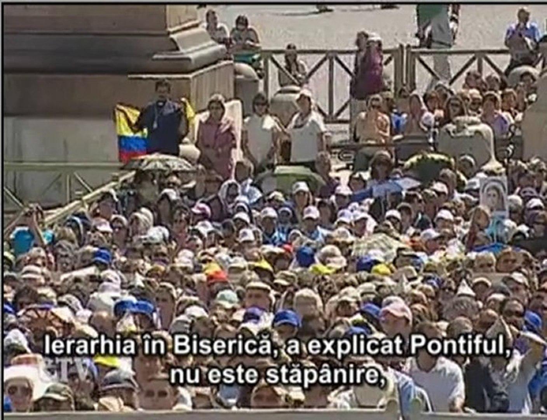 Papa: Autoritatea, slujire pentru a-i conduce pe oameni