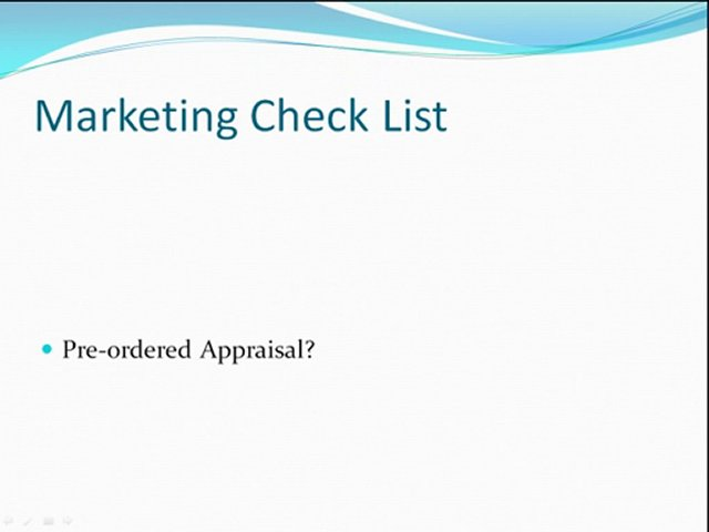 Marketing Real Estate Check List