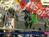 Les Travailleurs Sans Papiers sur les marches de la Bastille
