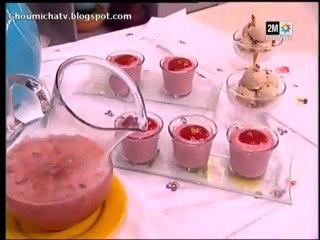 Glaces aux fraises et Cocktail à la pastèque