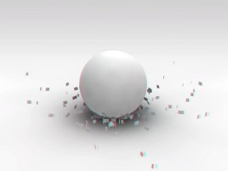 Anaglyph Sphere 3D test