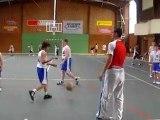 Weekend basket 2010 - les benjamins à l'échauffement !