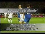 """Zidane il a frappé """"coup de boule"""""""