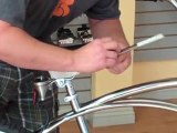 Changing the seat on a beach cruiser bicycle