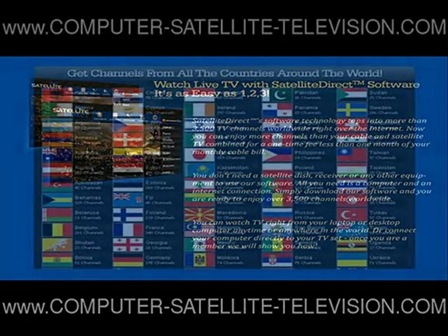Satellite Direct free Satellite tv on your computer for Fre