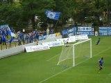 JFL前期第16節 ブラウブリッツ秋田 対 FC琉球 松田の逆転ゴール