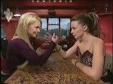Kylie Minogue Arm Wrestling with geri halliwell