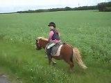 A poney! Stages. Balade endurance enfant.