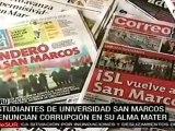 Alumnos de Universidad San Marcos rechazan rebrote de terror
