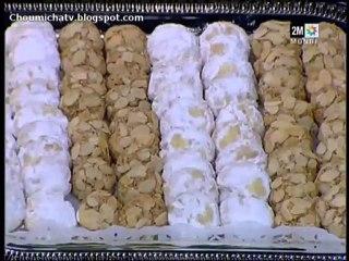 Macaron au chocolat ghriba et biscuits sablés