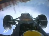 Accident Webber Onboard Valence 2010
