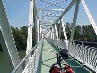 Passerelle piétons-vélos sur la Garonne à Gagnac-sur-Garonne