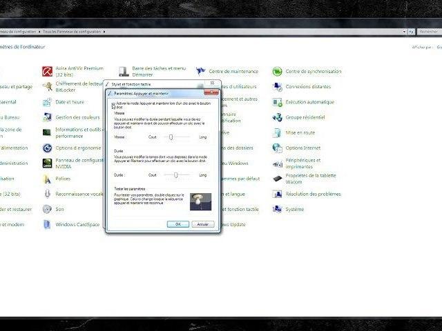 Astuce Wacom & Windows Vista ou Seven