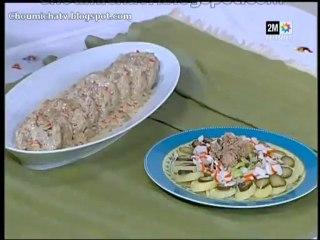 Kefta stroganoff et salade surimi