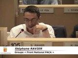 Vif échange entre FN et M VAUZELLE au Conseil Régional PACA
