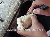 mammoth ivory carving Standing Buddha handcrafting demo