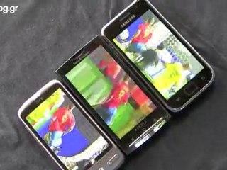 Vidéo comparatif du Super AMOLED vs AMOLED vs TFT LCD