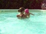 piscine avec maman