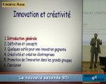 La nouvelle classe de seconde: Créativité et Innovation