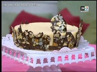 Gâteaux glacé au chocolat et caramel