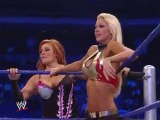 The Bella Twins vs Maryse and Natalya