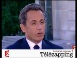 """Télézapping  : Sarkozy le """"beau parleur"""""""