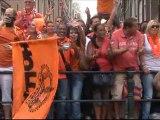 Les Oranje battus mais acclamés sur les canaux d'Amsterdam