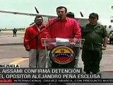 Venezuela confirmó detención de Alejandro Peña Esclusa