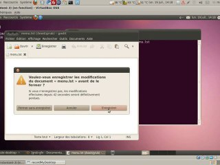Edition de fichier dans Ubuntu