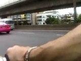 Denis labigang in the street of Bangkok riding BMX