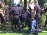 Manifestation pompiers contre le projet de retraite à Nice