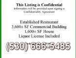 Liquor License Established Restaurant Home for sale Yolo Co