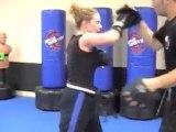 Syosset Martial Arts Kickboxing Pad Drills